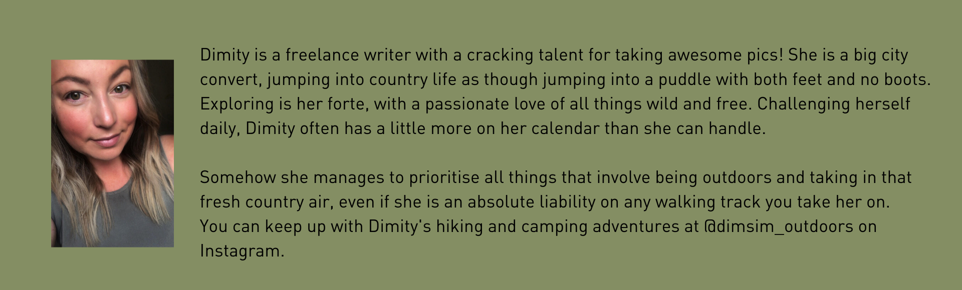 Dimity Hamilton Author Bio on The Fold Southern Highlands