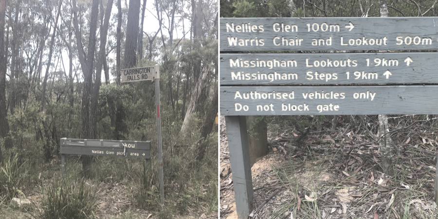 Directions to Nellies Glen
