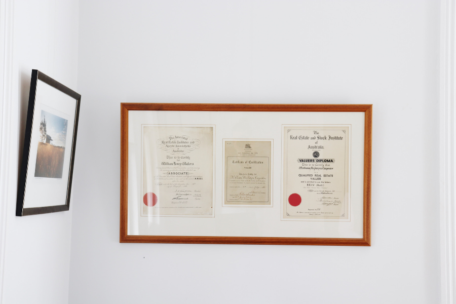 Certificates within the office