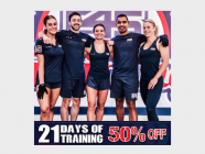 50% off sale for F45's 21 Day Challenge!