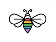 Rainbow Bee Designs
