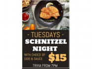 Schnitzel Night at Hotel Bargo