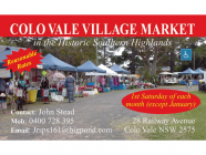 Colo Vale Village Market (not on this weekend)